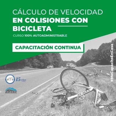 Cálculo de velocidad en colisiones con bicicleta