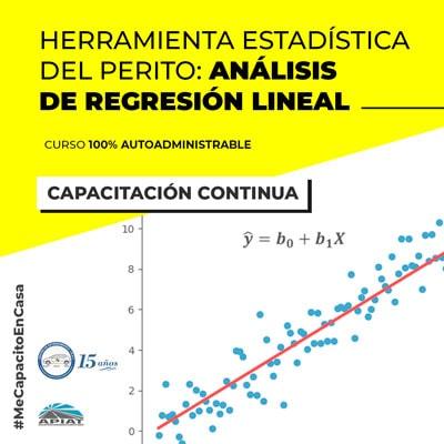 Herramienta Estadística del Perito: análisis de regresión lineal