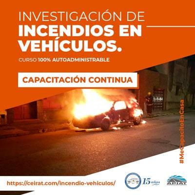 Investigación de incendios en vehículos