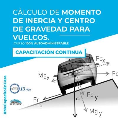 Cálculo de momento de inercia y centro de gravedad para vuelcos